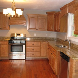 100% Custom Cherry Cabinets! We Build The Cabinets, The Trim And Did The  Remodel!
